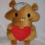 Hamster with a Heart Pouch Doll
