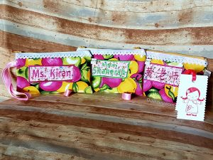 Teacher's Day Gifts - Pouches with Personalised Names