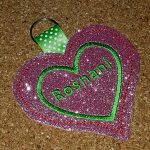 Glam up your bag or pouch with a glitter keyfob.