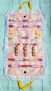 Hair Accessories Organizer with Personalised Name For Jade