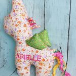 Unicorn Plushie Taggies with Personalised Name For Arielle