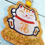 Fortune Cat Keyfob Keychain