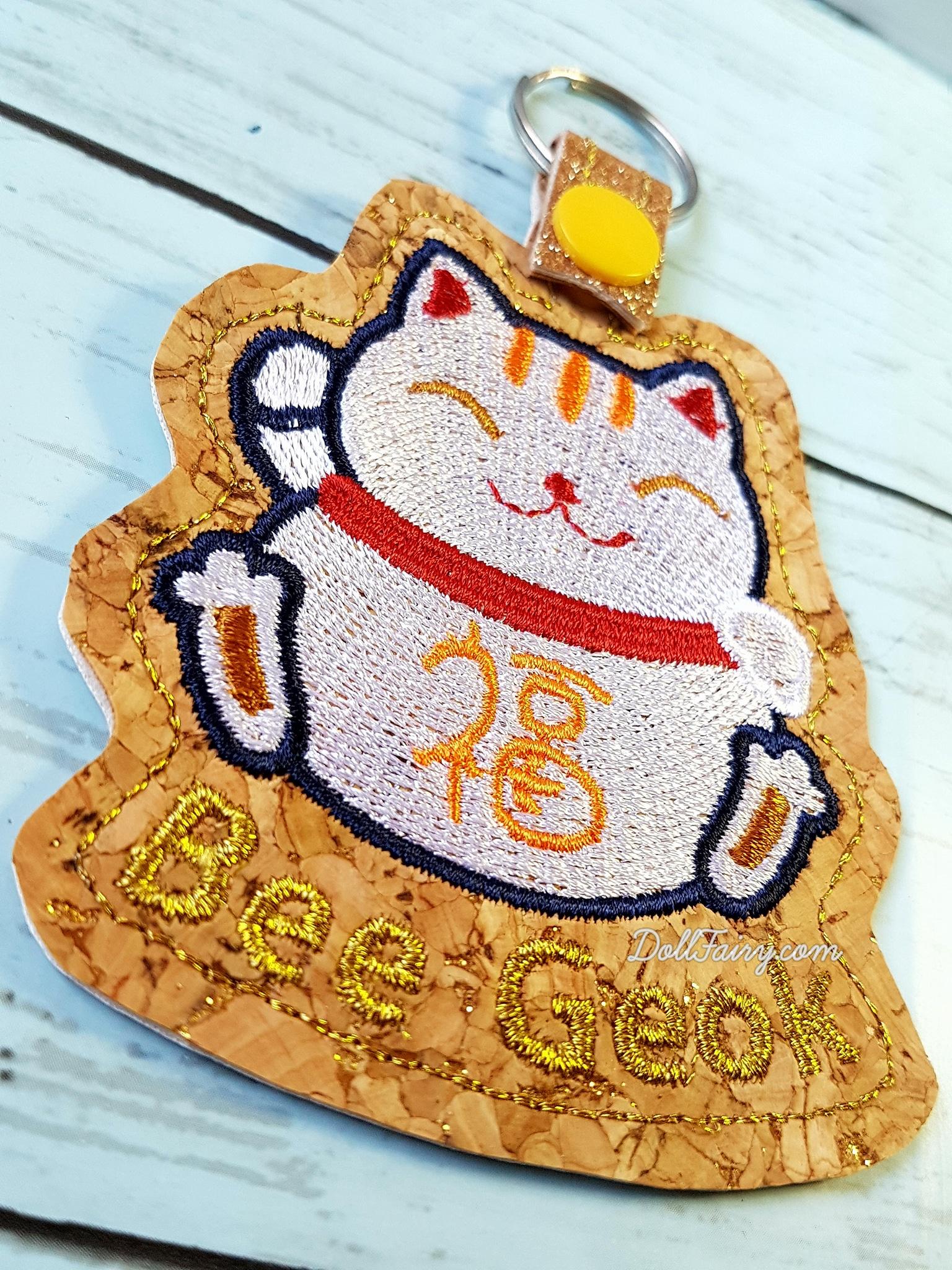 Fortune Cat Keyfob Keychain