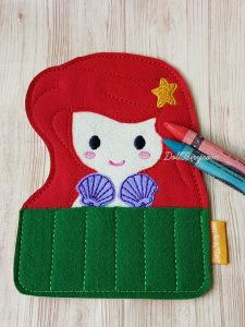 Princess mermaid crayon holder.