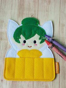 Pixie fairy crayon holder.