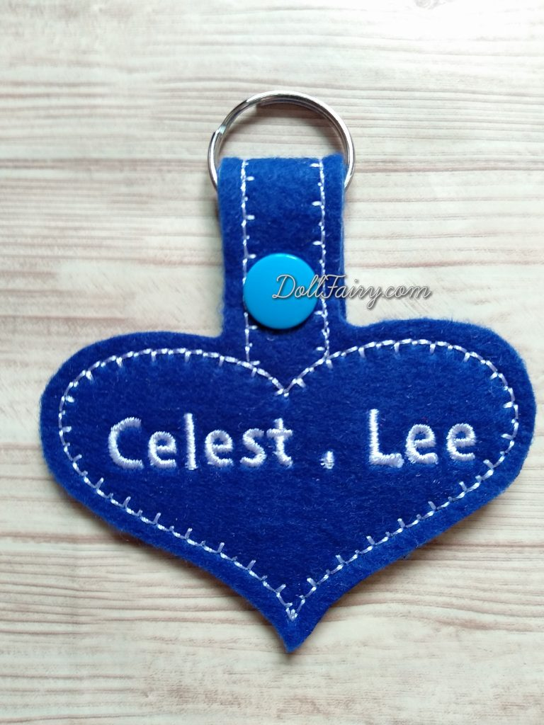 A heart shaped key tag for a lovely girl.