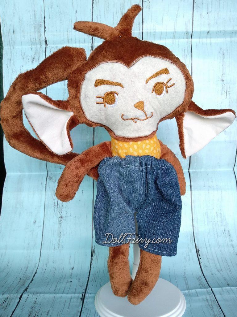 A sweet girl monkey mascot!
