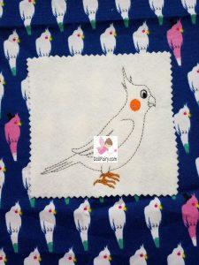 Cockatiel Embroidery Design