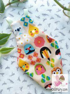 Bird Diaper Flight Suit With Parrots Print