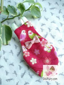 Pretty Lovebird Bird Diaper Flight Suit With Lovebirds Print