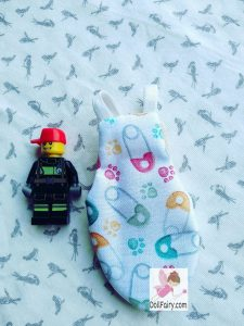 Lovebird Bird Diaper Flight Suit With Safety Pin Print