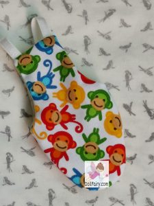 Mango Green Cheek Conure Monkey Print Bird Diaper Flight Suit