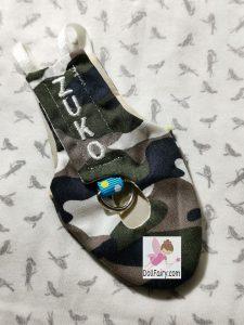 Zuko Green Cheek Conure Camouflage Bird Diaper Flight Suit