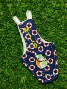 Milo Bird Diaper Flight Suit With Life Buoy Print
