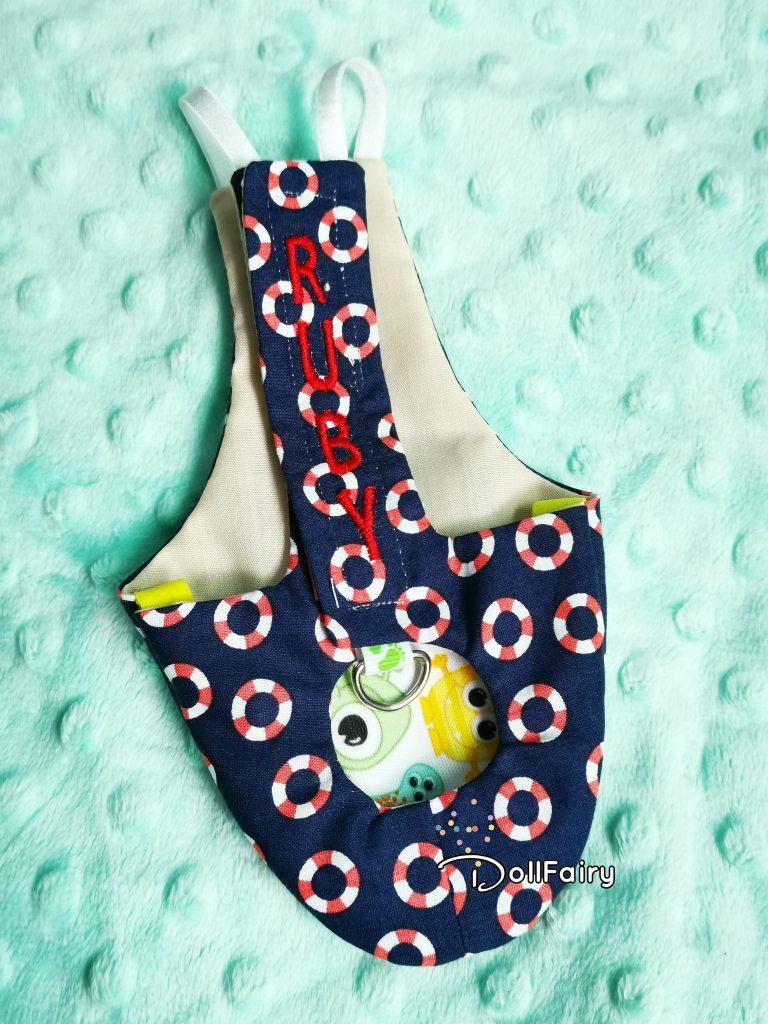 Galah Cockatoo Bird Diaper Flight Suit with Lifebuoy Print