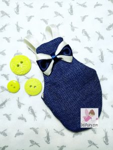 Drogo Parrotlet Bird Diaper Flight Suit With Bow Tie