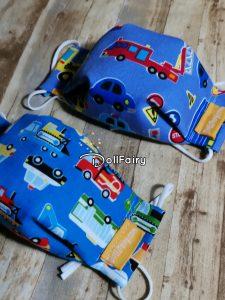 Boys Face Masks Cars Print