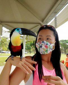 Toucan Bird And Matching Face Mask