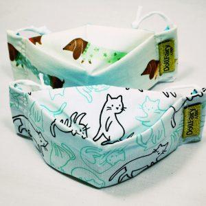 Cat And Dog Print Reusable Face Masks