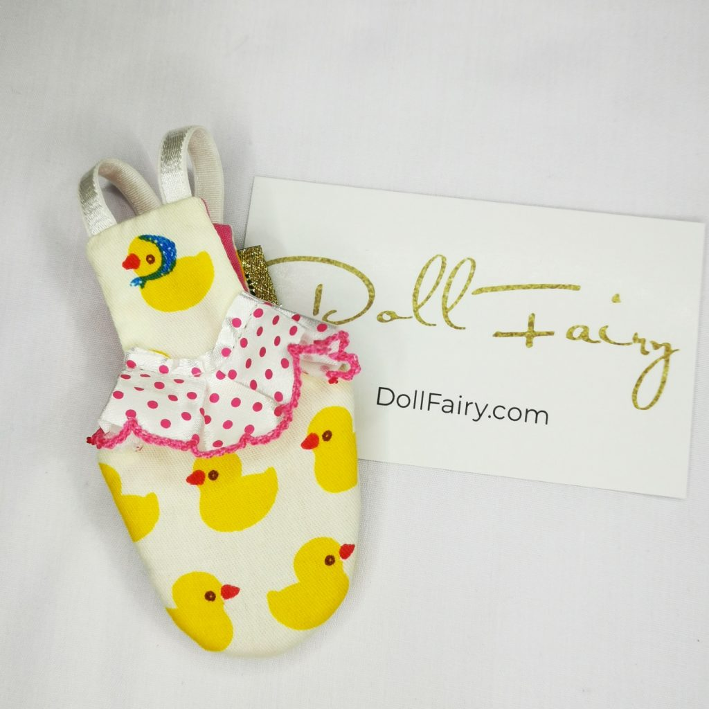 Cute Duckie Print Bird Diaper Flight Suit For Lovebird