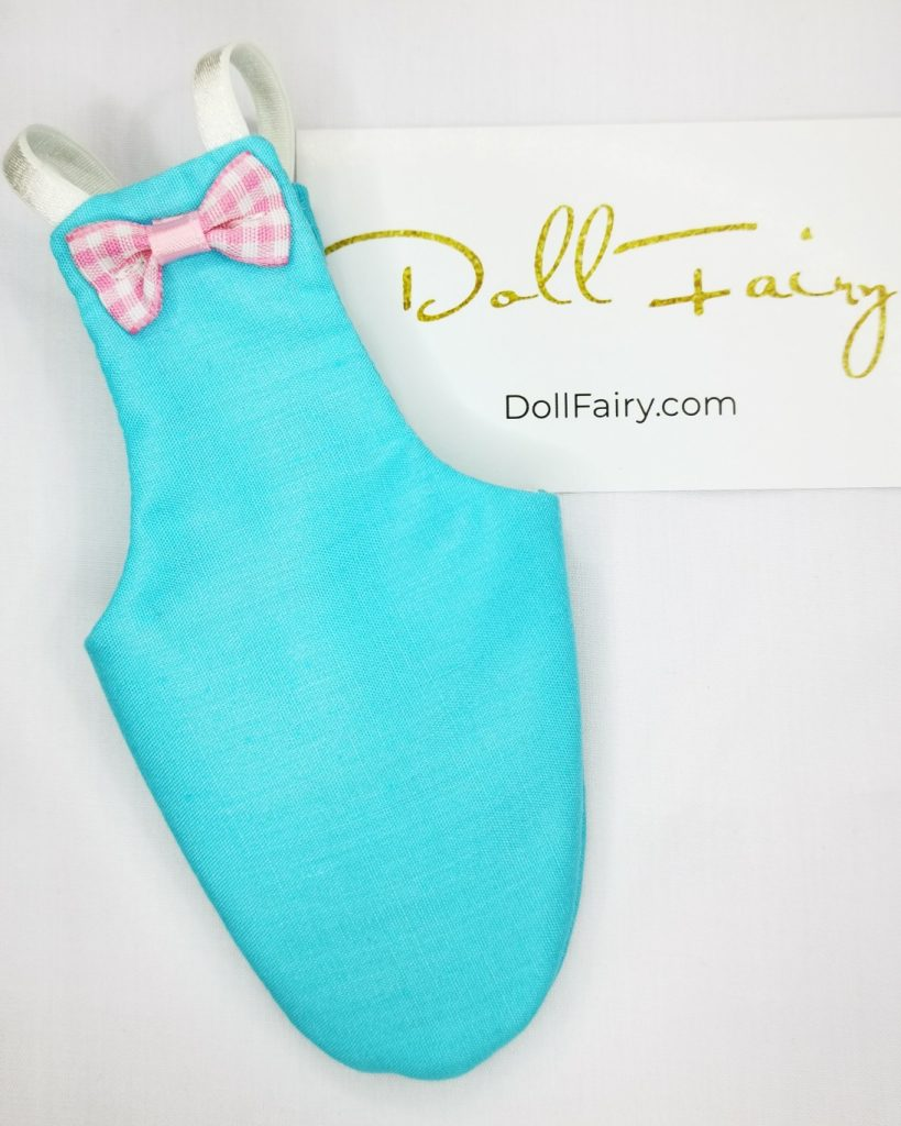 Sky Blue Bird Diaper With Cute Checkered Pink Bow For Sun Conure